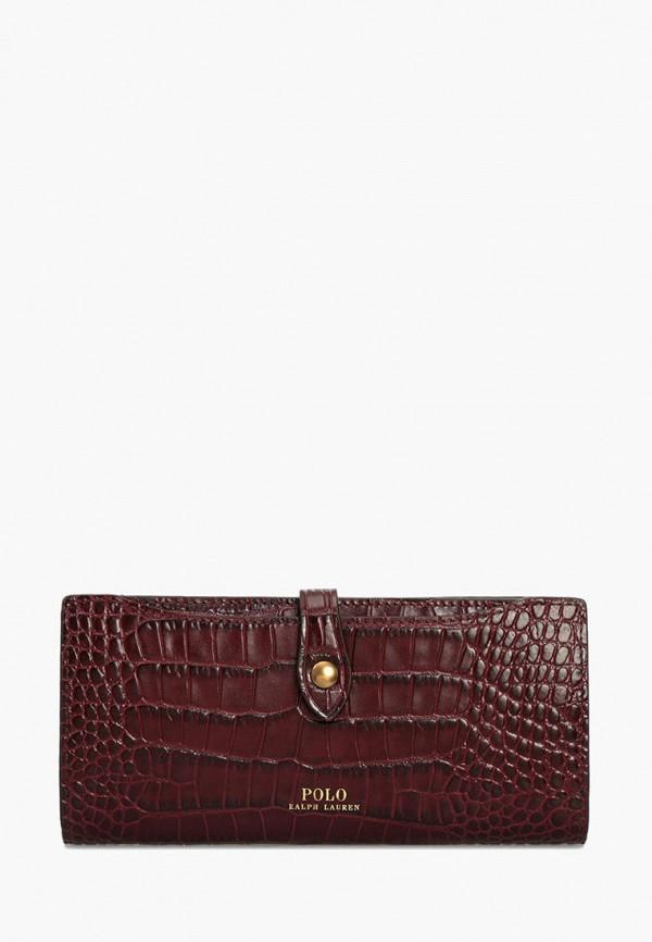 женский кошелёк polo ralph lauren, бордовый