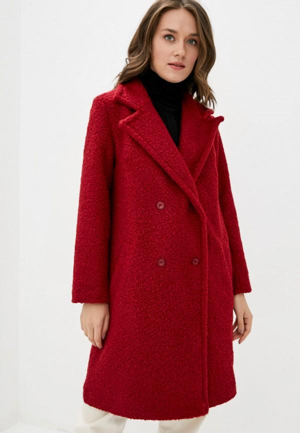 женское пальто garne, бордовое