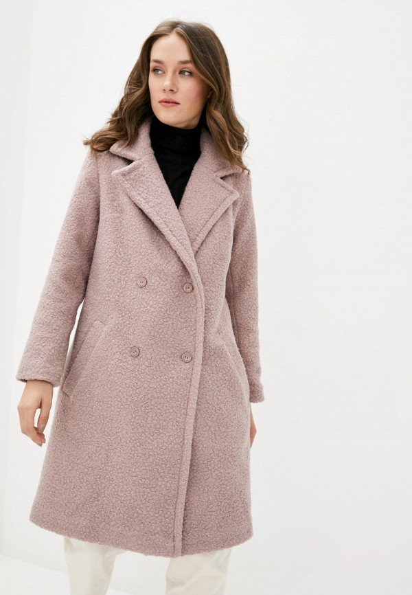 женское пальто garne, розовое