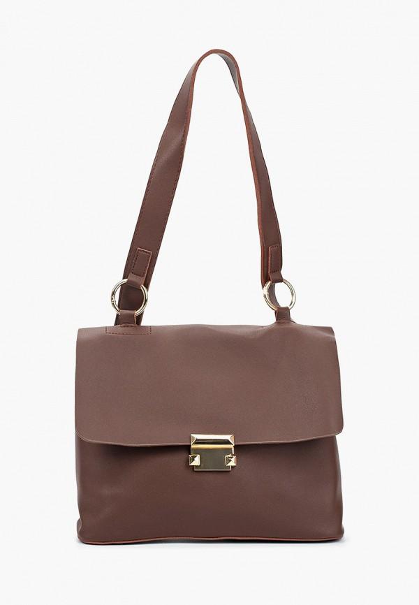 женская сумка с ручками nataco, коричневая