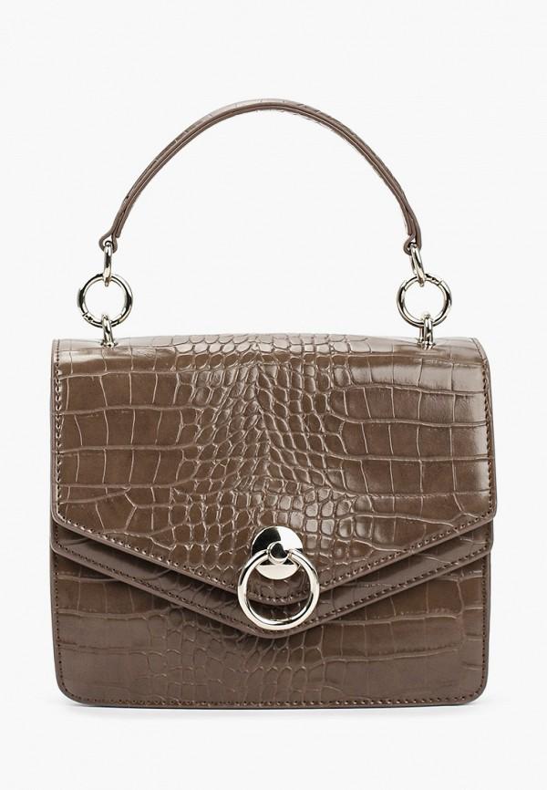женская сумка с ручками снежная королева, коричневая