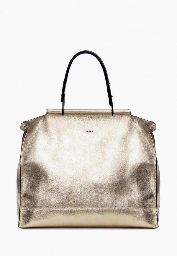 женская сумка с ручками labbra, золотая