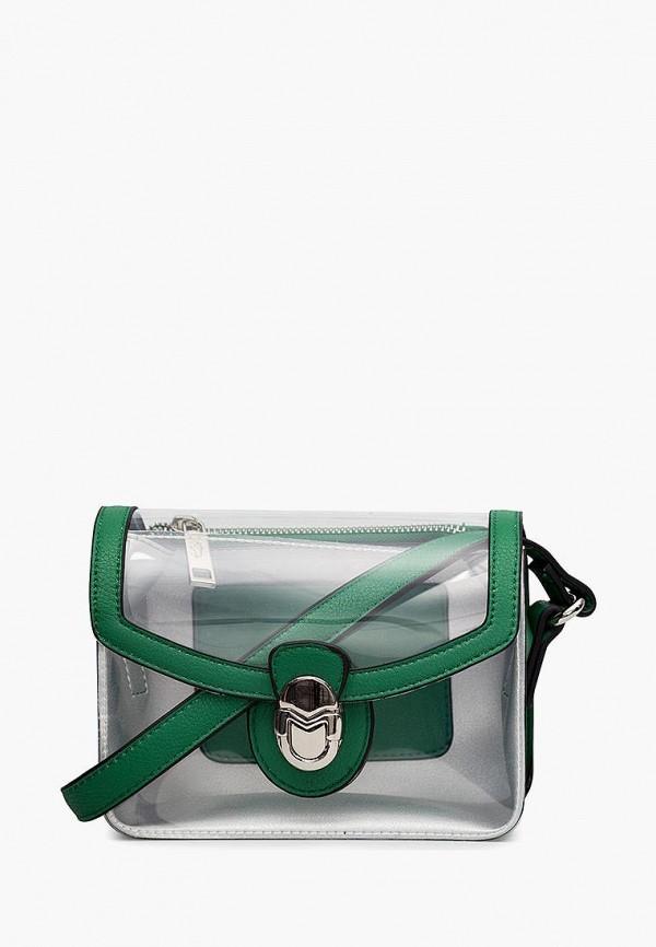 женская сумка через плечо labbra, зеленая