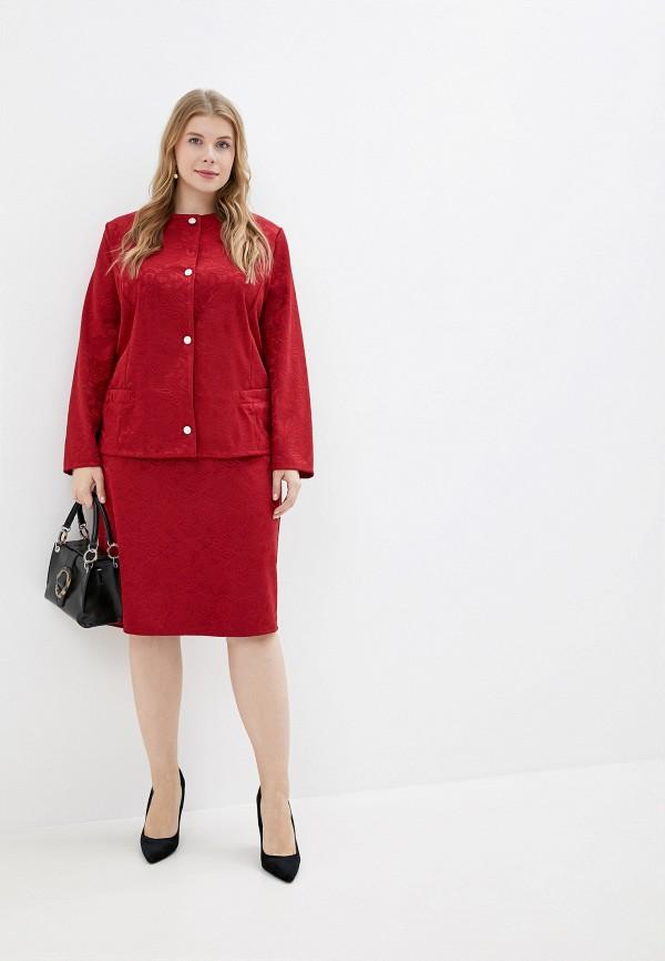 женский костюм prewoman, бордовый