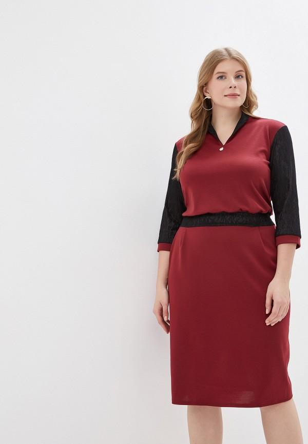женское платье prewoman, бордовое