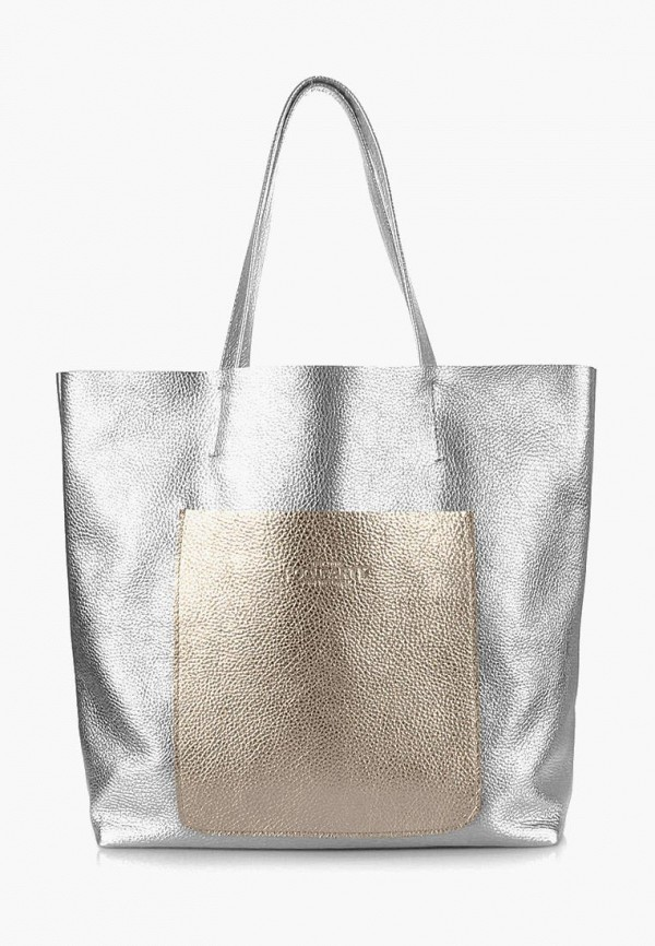женская сумка poolparty, серебряная