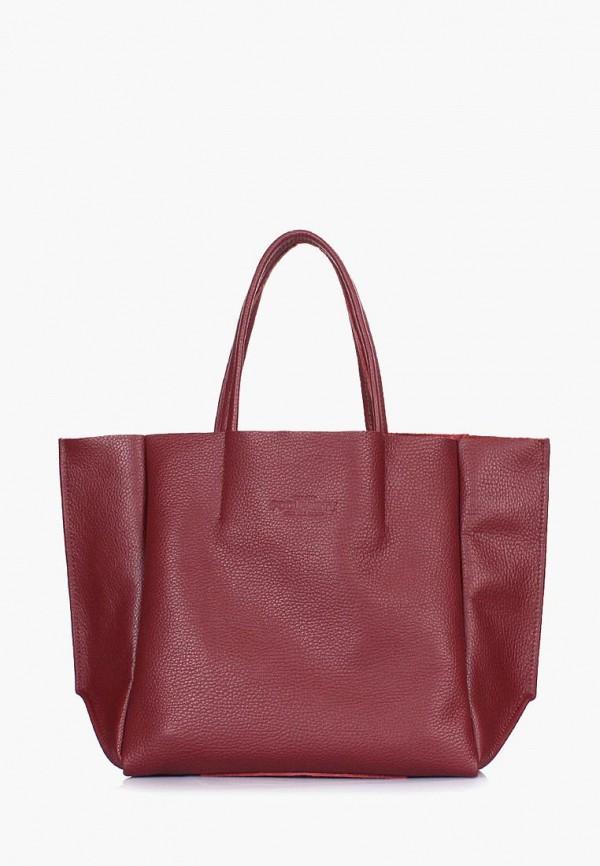 женская сумка poolparty, бордовая