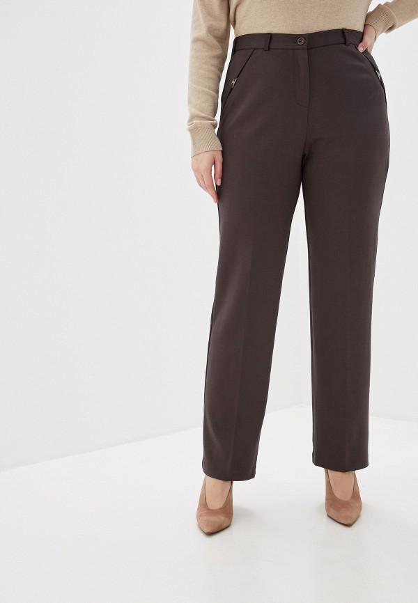 женские брюки мадам т, коричневые