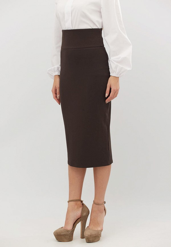 женская зауженные юбка criss, коричневая