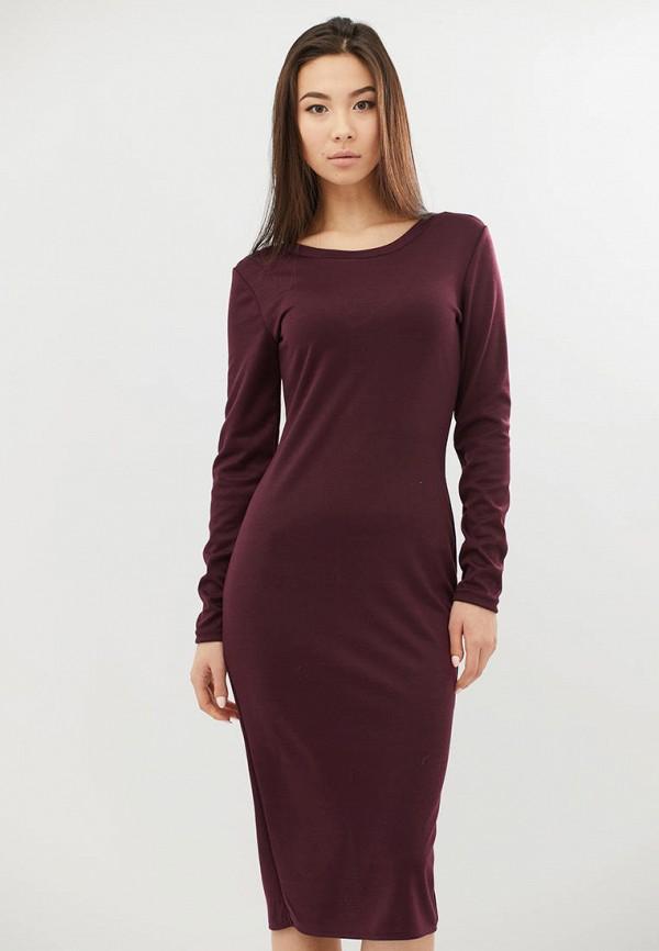 женское платье criss, бордовое