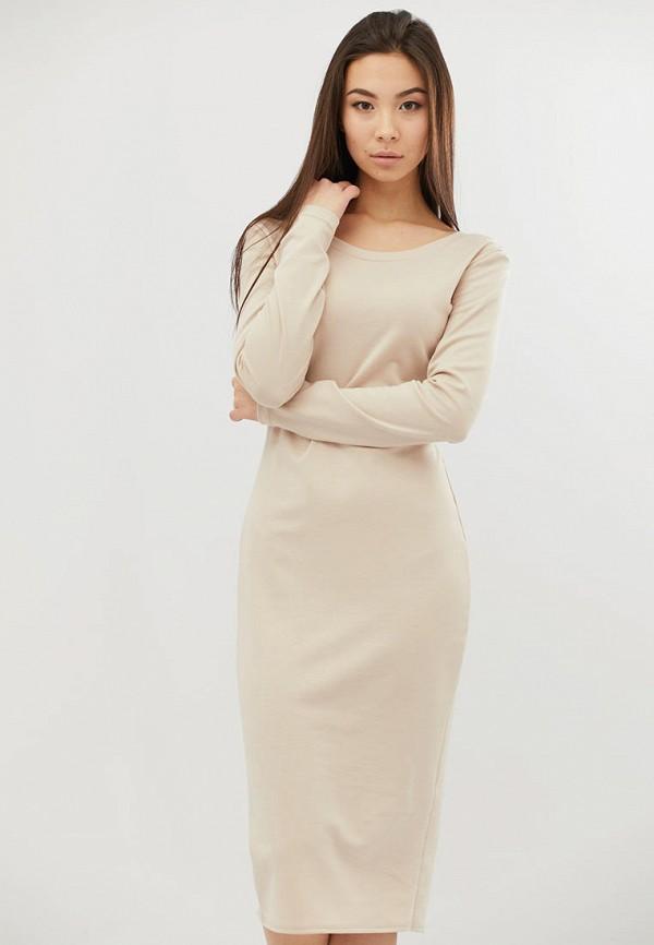 женское платье criss, бежевое