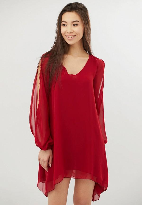женское повседневные платье criss, красное