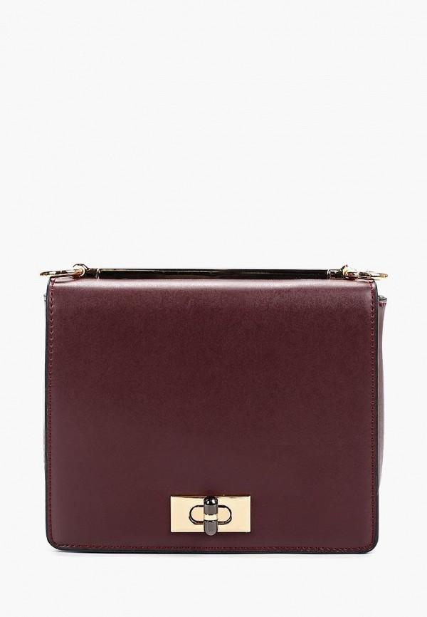 женская сумка zarina, бордовая