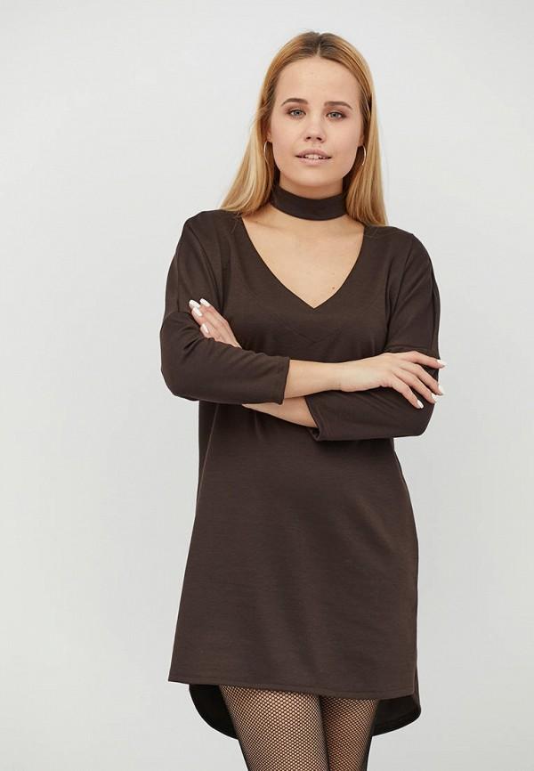 женское платье criss, коричневое