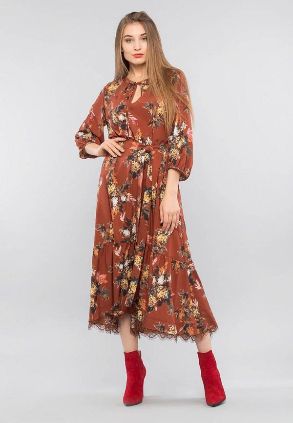 женское повседневные платье maxa, коричневое