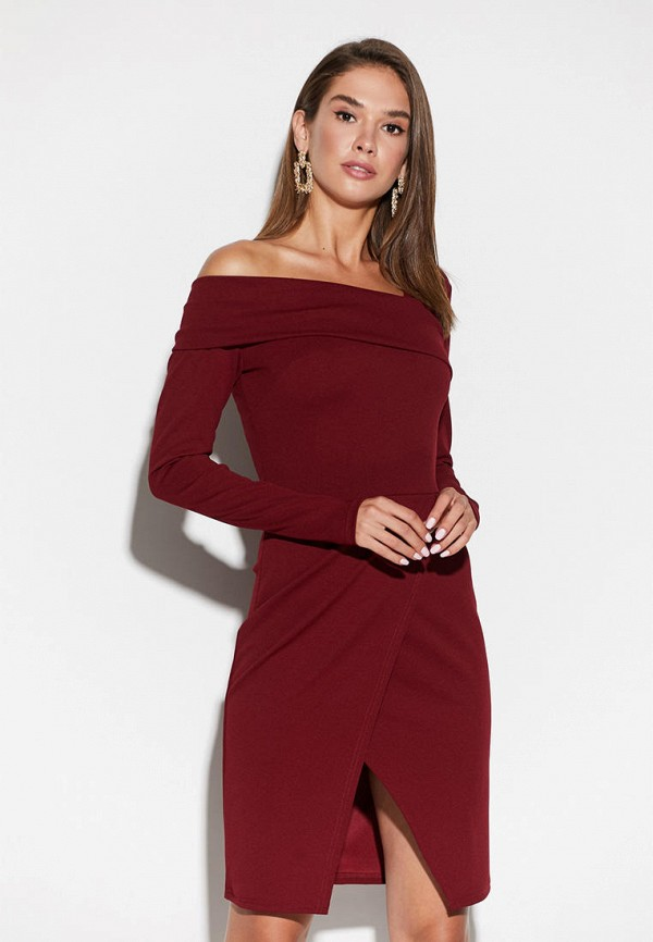 женское платье karree, бордовое