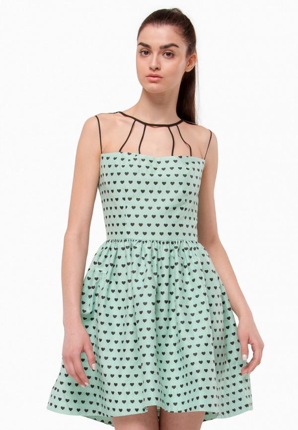 женское вечерние платье nai lu-na by anastasia ivanova, зеленое