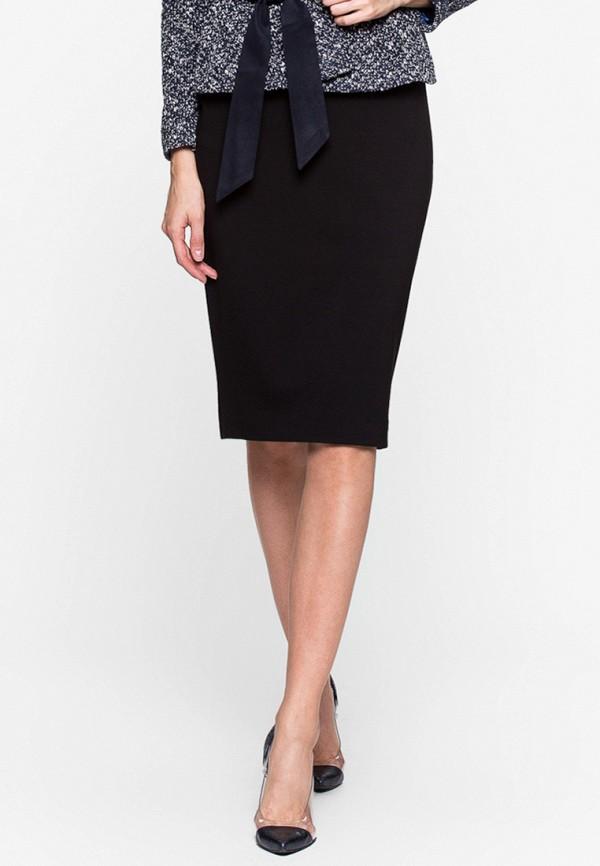 женская прямые юбка imago, черная