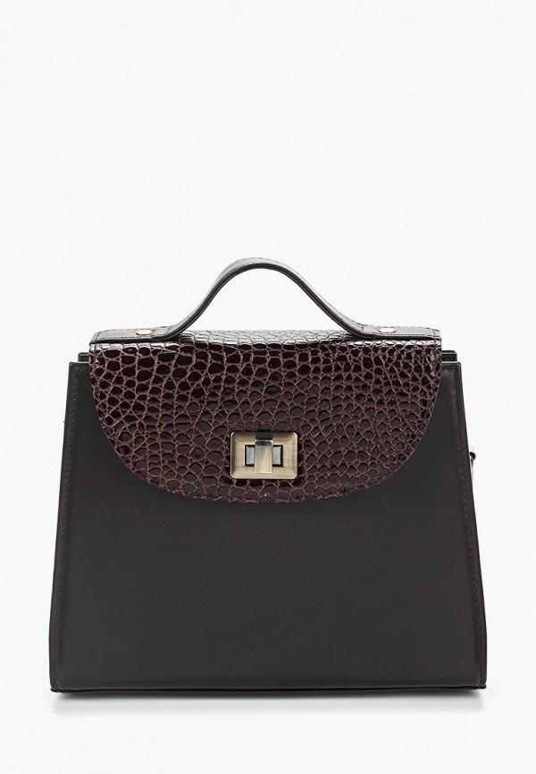 женская сумка d.angeny, коричневая
