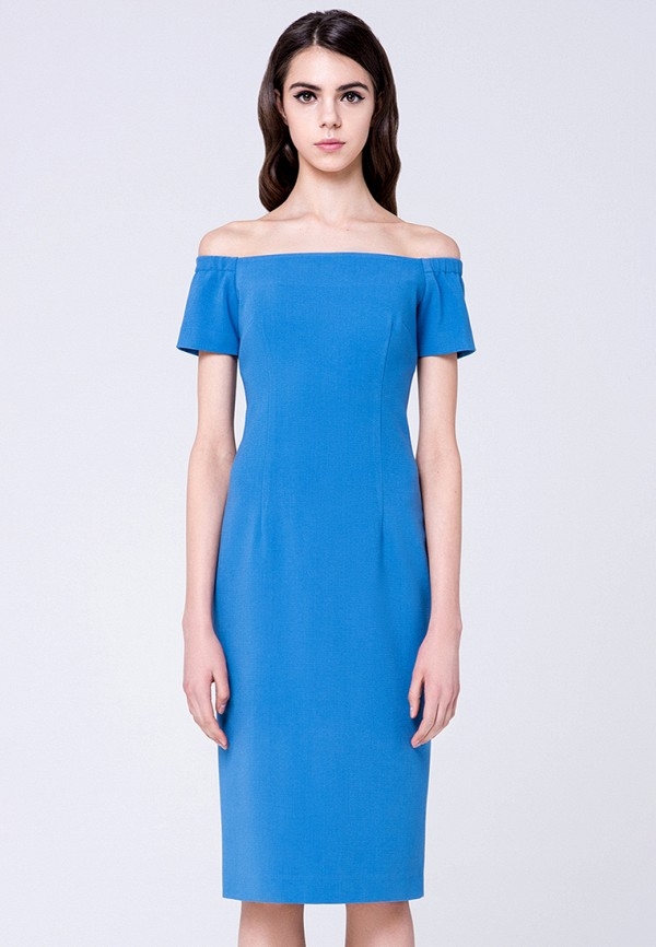 женское платье миди minimally, голубое