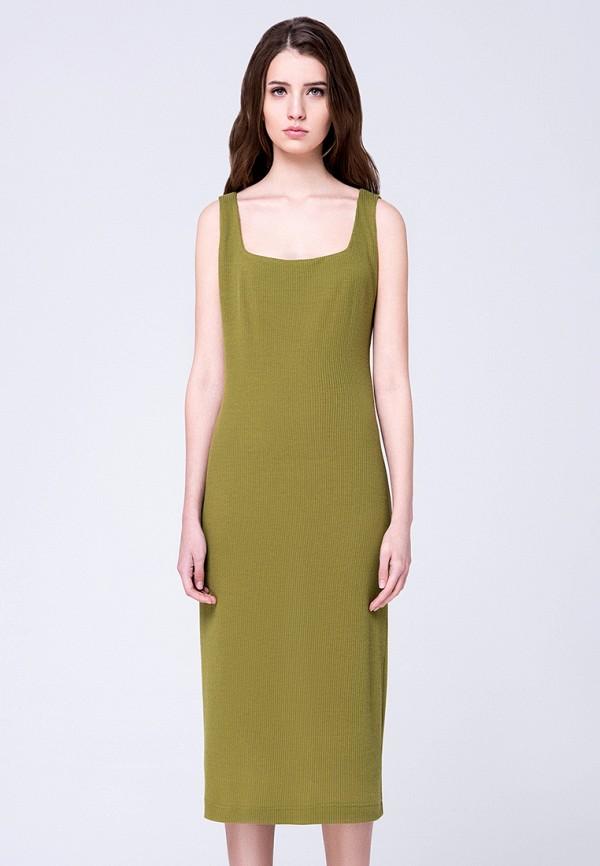 женское платье миди minimally, хаки