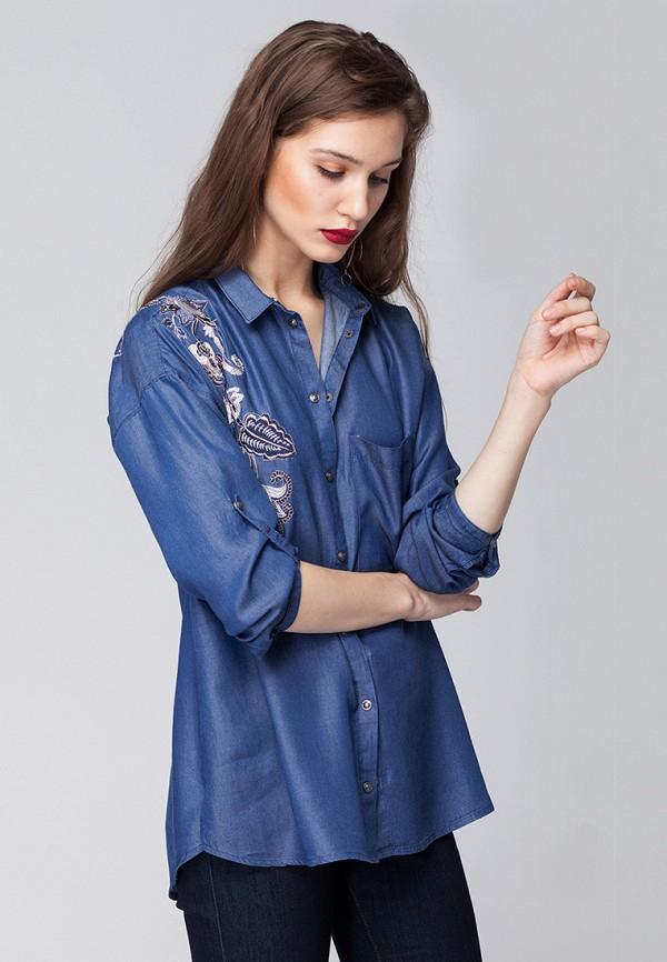 Купить Блуза Vilatte, mp002xw0dn2v, голубой, Осень-зима 2018/2019