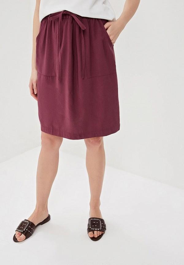 женская прямые юбка baon, фиолетовая