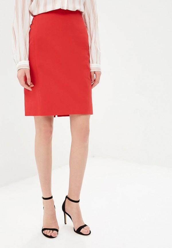 женская прямые юбка baon, красная