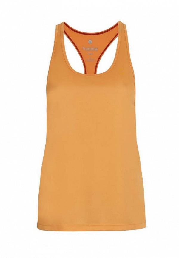 женская спортивные майка hummel, оранжевая
