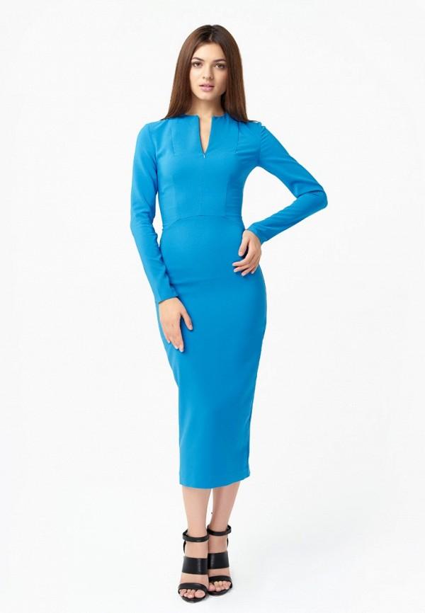 женское платье-футляр nai lu-na by anastasia ivanova, голубое