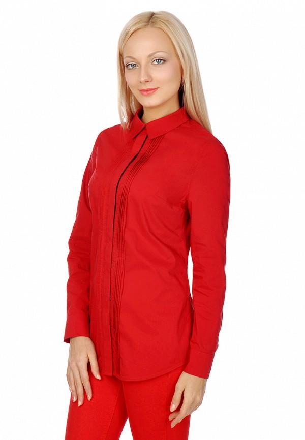 женская рубашка city jungle, красная