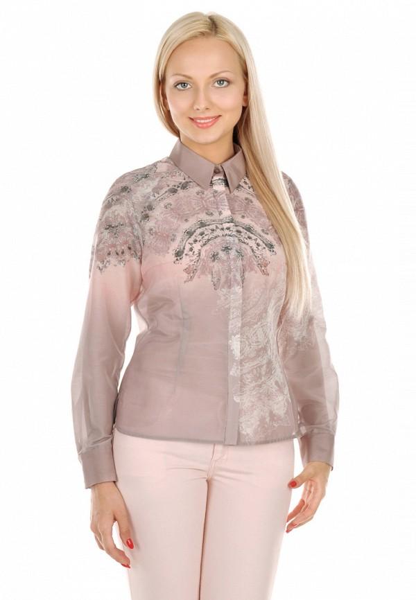 женская рубашка с длинным рукавом city jungle, бежевая