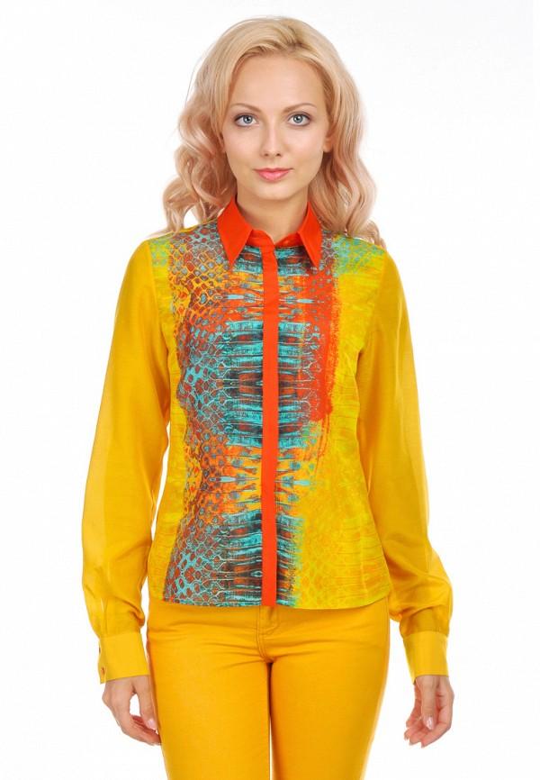женская рубашка с длинным рукавом city jungle, оранжевая