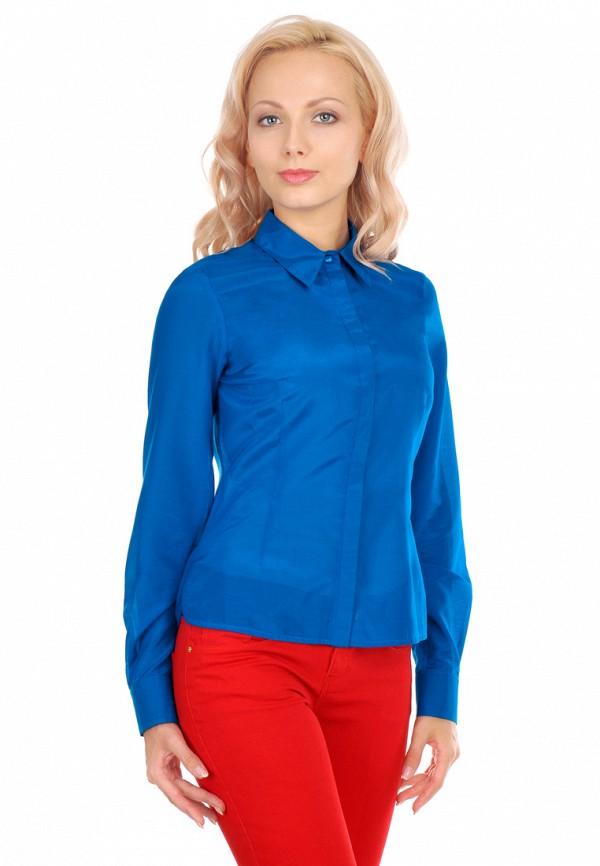 женская рубашка с длинным рукавом city jungle, синяя