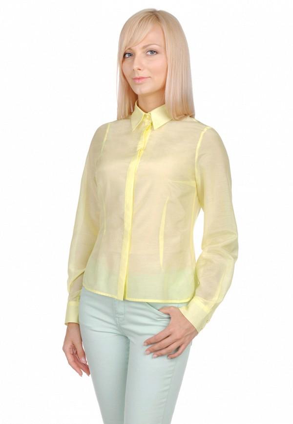 женская рубашка с длинным рукавом city jungle, желтая