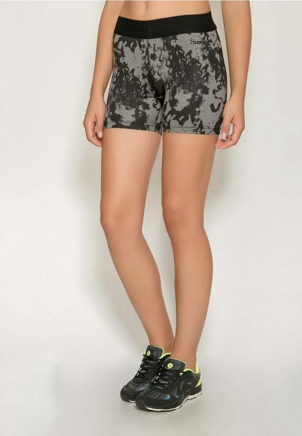 Фото 7 - женские шорты Hummel серого цвета