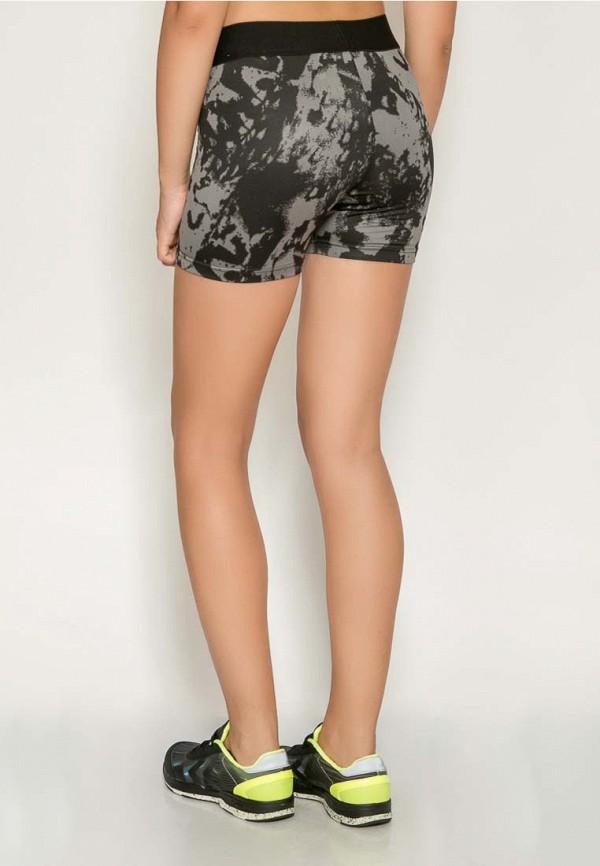 Фото 8 - женские шорты Hummel серого цвета