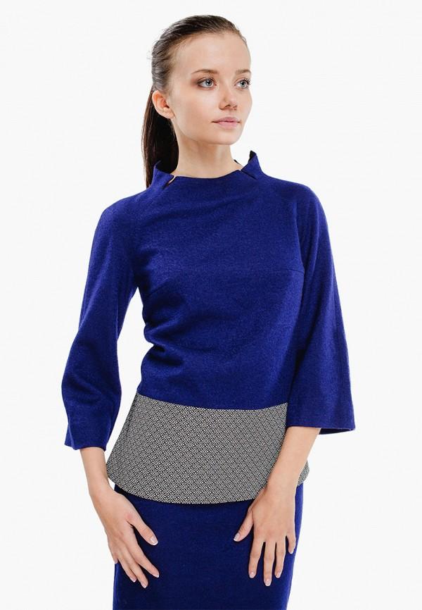 женская блузка nai lu-na by anastasia ivanova, синяя