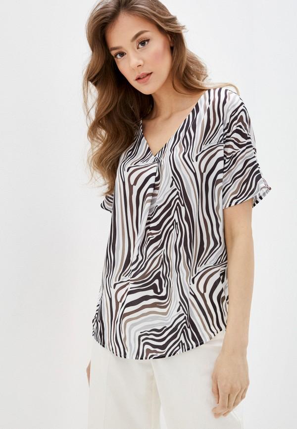 женская блузка с коротким рукавом mark formelle, разноцветная