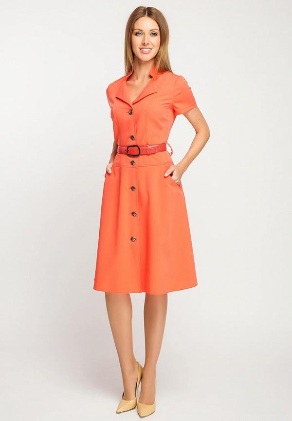 Фото 2 - Женское платье Giulia Rossi оранжевого цвета