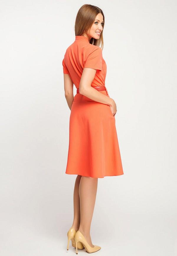 Фото 3 - Женское платье Giulia Rossi оранжевого цвета