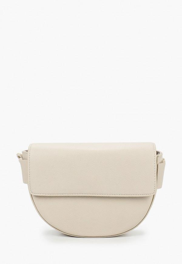 женская сумка через плечо zarina, бежевая
