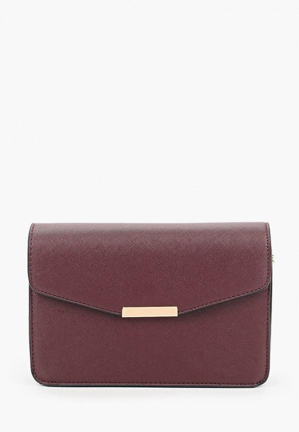 женская сумка с ручками zarina, бордовая