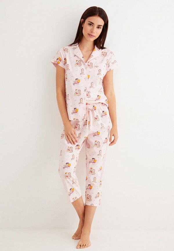 женская пижама women'secret, бежевая