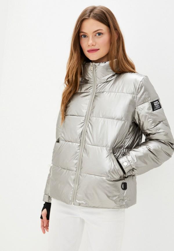 женская утепленные куртка fadjo, серебряная