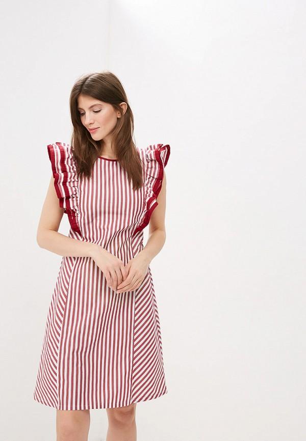 женское повседневные платье tantino, бордовое