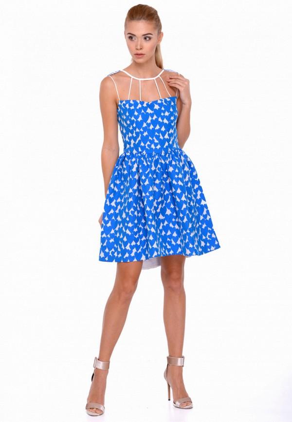женское вечерние платье nai lu-na by anastasia ivanova, синее