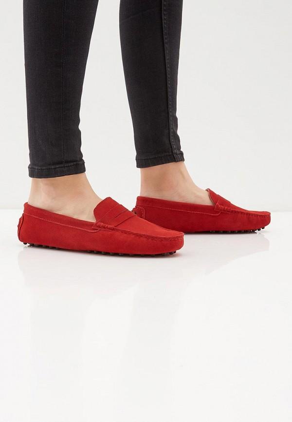 Фото 6 - Женские мокасины Marco Bonne` красного цвета