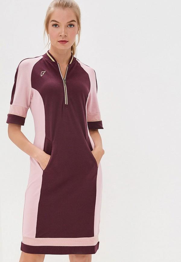 женское платье forward, бордовое