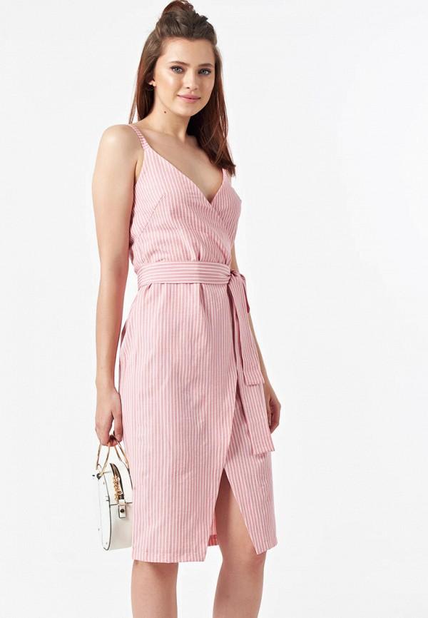 Фото 4 - Женское платье Fly розового цвета